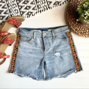 ANTHROPOLOGIE PILCRO Boyfriend Embroidered Shorts